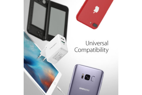 Spigen Essential USB Wall Charger Quick Charge 3.0 - Weiß