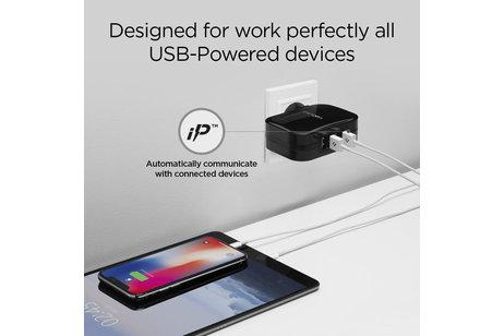 Spigen SteadiBoost 4x USB Wall Charger - Schwarz