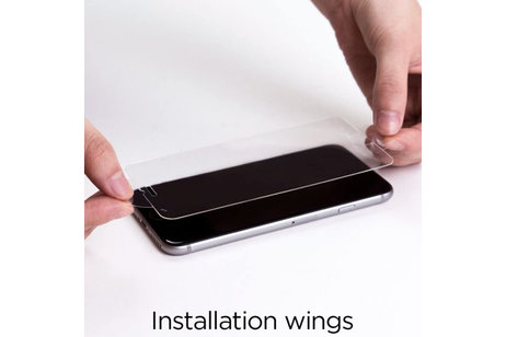 Spigen GLAStR Duo Pack Slim Tempered Glass Screen Protector voor de iPhone SE (2020) / 8 / 7