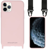 iMoshion Farbhülle mit Band - Nylonband iPhone 11 Pro - Rosa