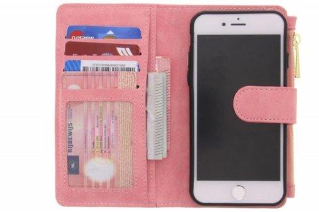 Rosafarbene luxuriöse Portemonnaie-Hülle für das iPhone SE (2020) / 8 / 7