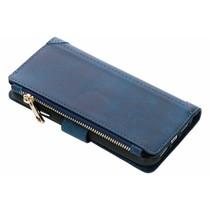 Luxuriöse Portemonnaie-Hülle Dunkelblau für das iPhone Xr