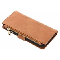 Luxuriöse Portemonnaie-Hülle Braun für das iPhone Xr