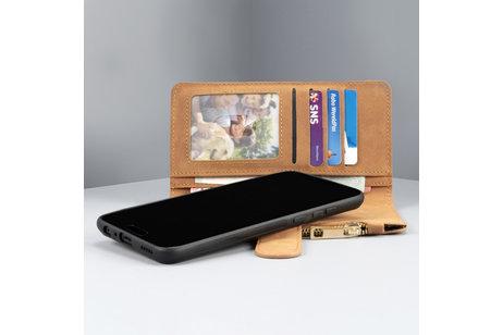 iPhone Xr hülle - Luxuriöse Portemonnaie-Hülle Braun für