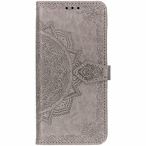 Mandala Booktype-Hülle Grau Samsung Galaxy S10