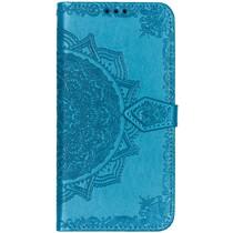 Mandala Booktype-Hülle Türkis Samsung Galaxy A50 / A30s