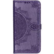 Mandala Booktype-Hülle Violett Samsung Galaxy A50 / A30s