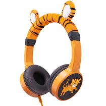 Planet Buddies Wired Headphones - Charlie the Tiger - Orange