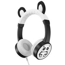 Planet Buddies Wired Headphones - Pippin the Panda - Schwarz / Weiß