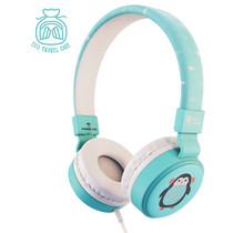 Planet Buddies Wired Headphones - Pepper the Penguin - Blau