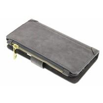 Graue luxuriöse Portemonnaie-Hülle für das Samsung Galaxy S7