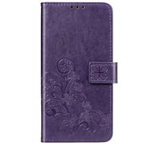 Kleeblumen Booktype Hülle Violett Xiaomi Redmi Note 8