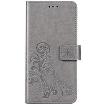 Kleeblumen Booktype Hülle Grau Xiaomi Redmi Note 8