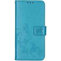Kleeblumen Booktype Hülle Türkis Xiaomi Redmi Note 8