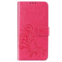 Kleeblumen Booktype Hülle Fuchsia  Xiaomi Redmi Note 8