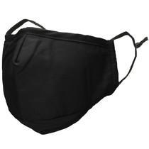 iMoshion Waschbarer Mundschutz aus 3-lagigem Baumwollgewebe - Schwarz