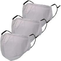iMoshion 3er-Pack Waschbarer Mundschutz aus 3-lagigem Baumwollgewebe