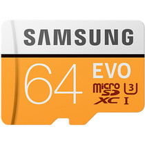 Samsung 64GB EVO microSDXC Speicherkarte Klasse 10 + Adapter
