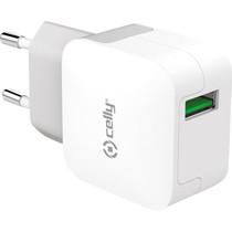 Celly USB Wand-Ladegerät - 2,4A - Weiß
