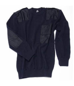 Commando trui 50/50% wol/acryl (navy)