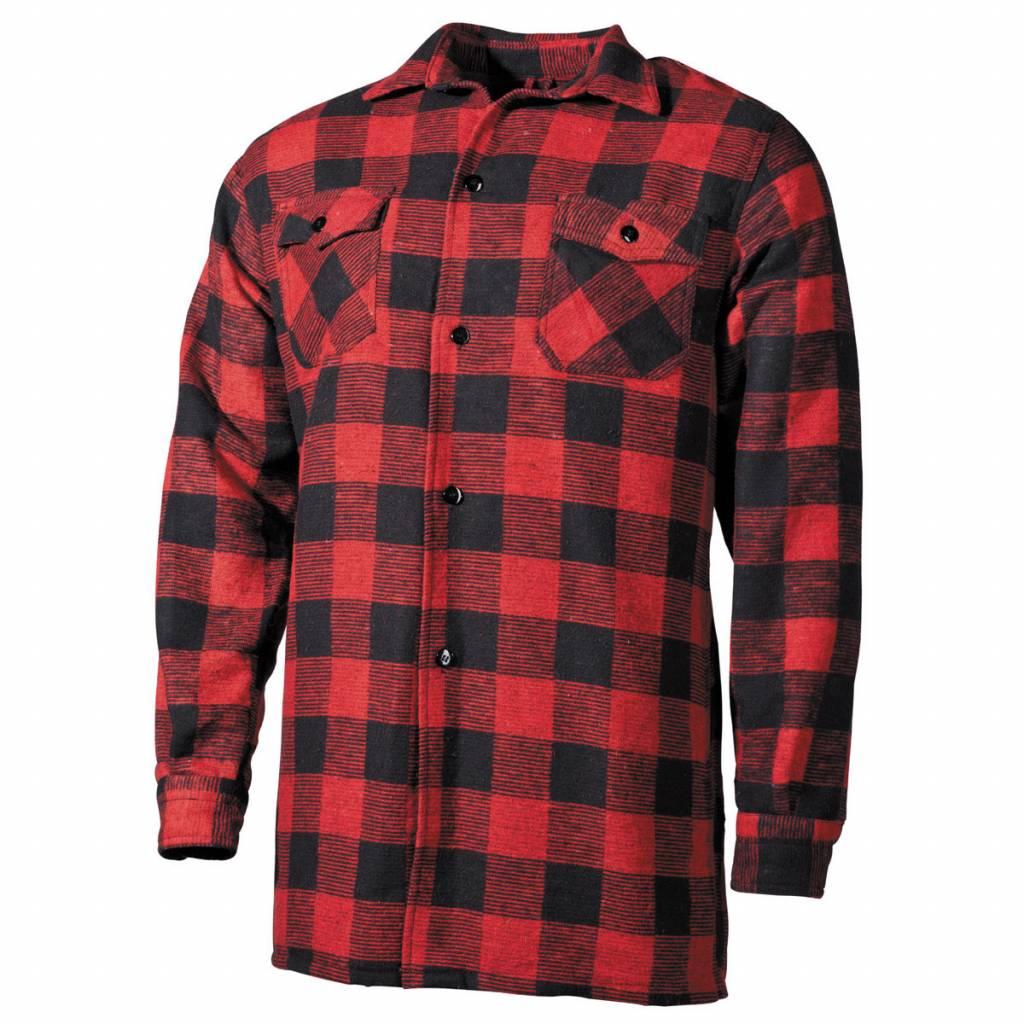 Overhemd Rood Zwart Geblokt.Houthakkersblouse Rood Zwart Geruit Yankee Supply