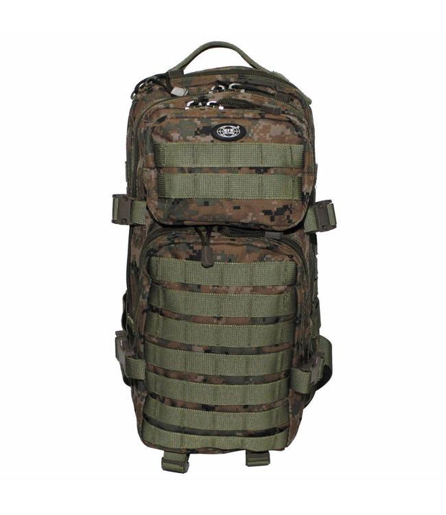 "Rugzak ""Assault I"" 30 liter, digital woodland camouflage"