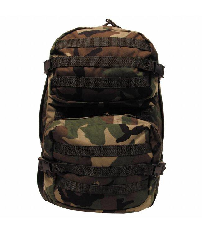 """Rugzak """"Assault II"""" 45 liter, woodland camouflage"""