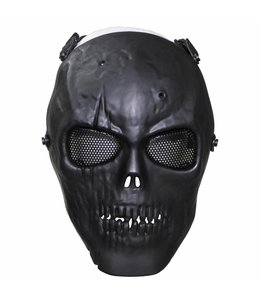 "Face masker, ""skull"", Zwart, full protection, deco"