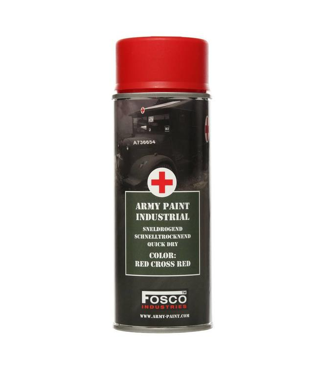 Legerverf Spray (spuitbus) 400 ml. Red-cross Red