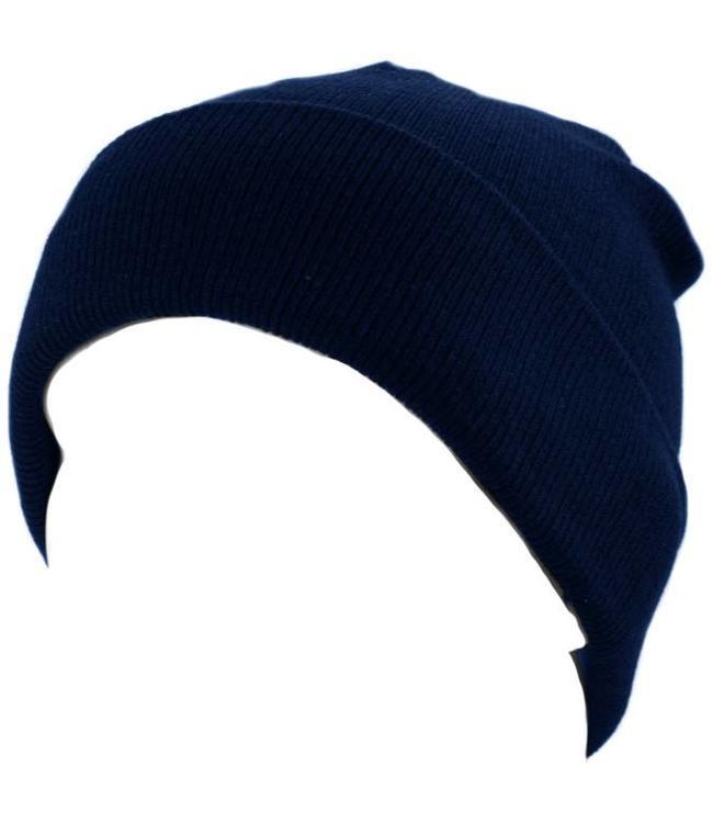 Commando muts (watch cap) fijn blauw