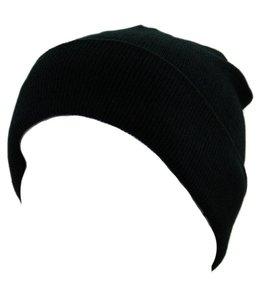 Commando muts (watch cap) fijn Zwart