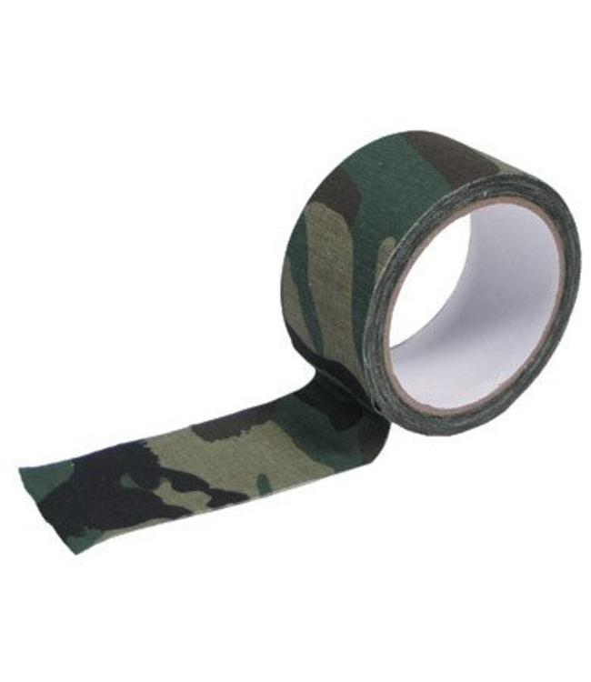 Fabric Tape, 5 cm x 10 m, woodland camouflage