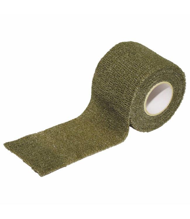 camouflage Tape, self-adhesive, 5 cm x 4,5 m, OD Groen