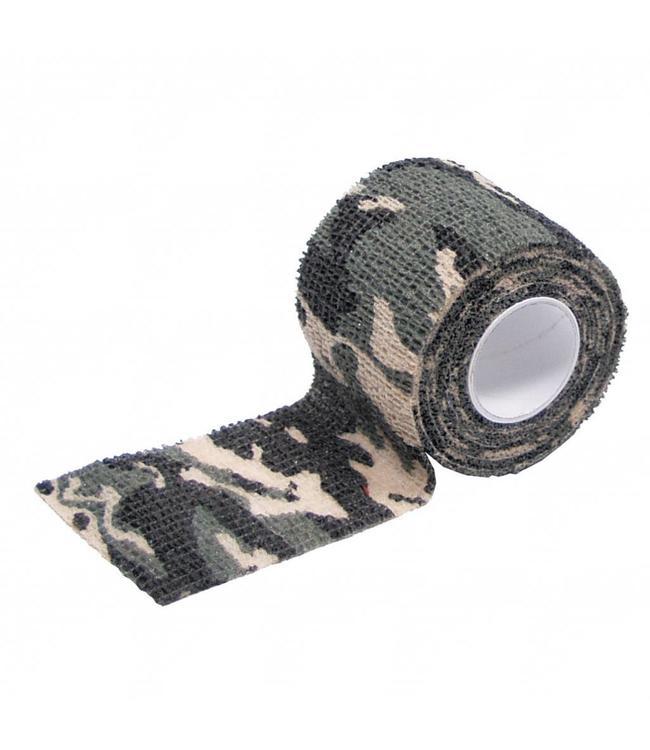 camouflage Tape, self-adhesive, 5 cm x 4,5 m, woodland camouflage