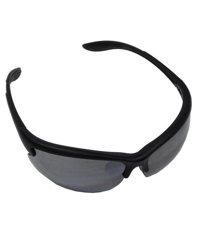 "Army Sports Bril, ""Strike"", Zwart, 3 extra glasses"
