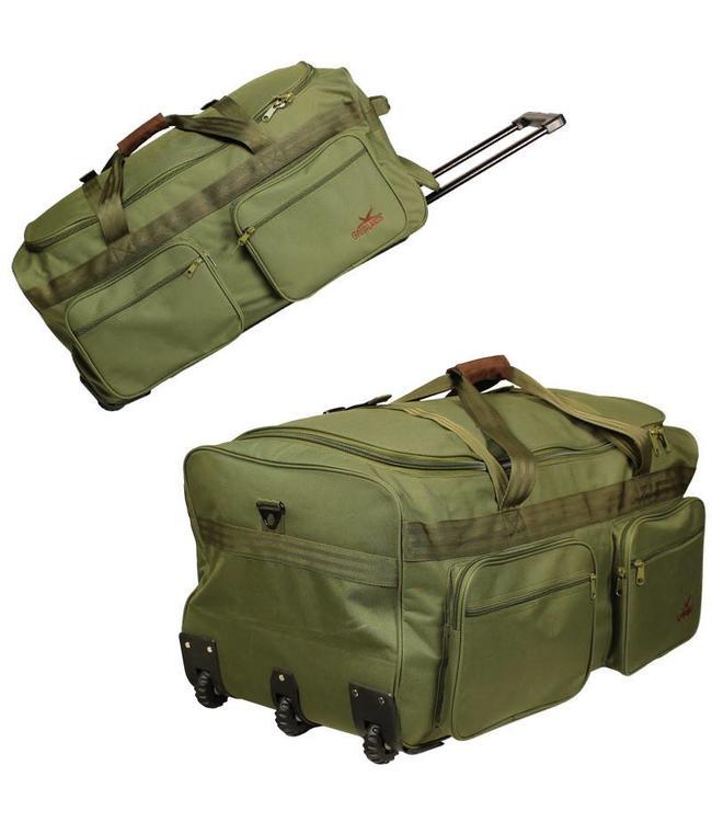 Hunting/outdoor draagtas trolley duffle 110L
