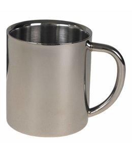 Beker, dubbelwandig , 250 ml, RVS