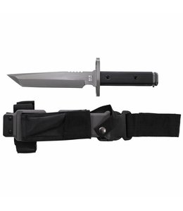 Bayonet mes, grijs lemmet, plastic-nylon hoes