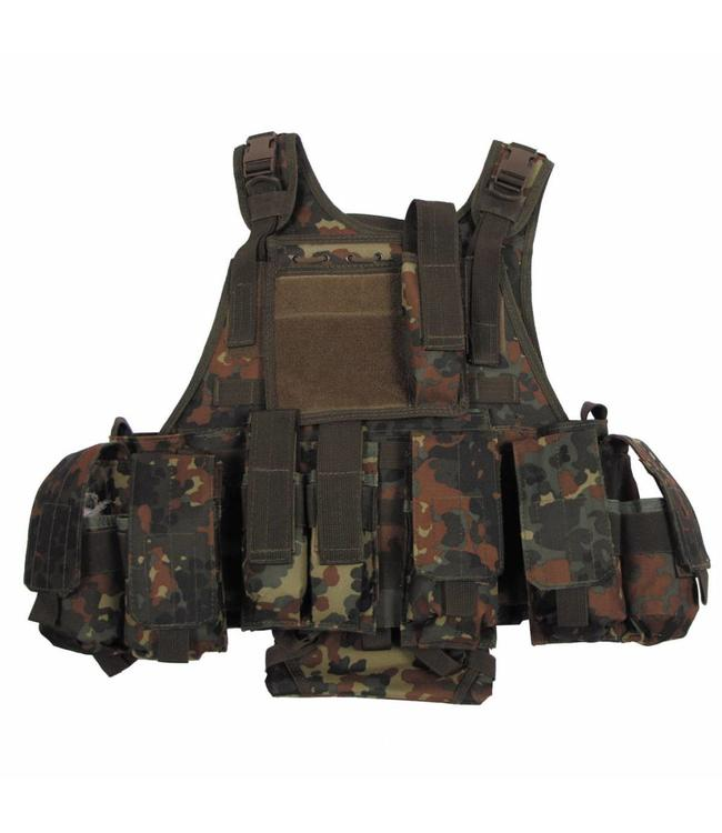 """Tactical vest """"Ranger"""" Modu., BW camouflage, 5 bags and pouches"""