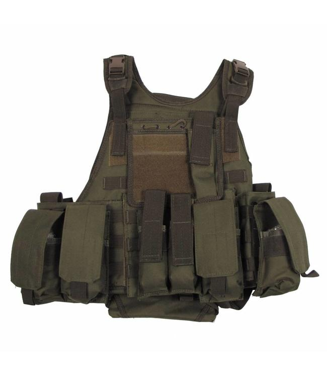"Tactical vest ""Ranger"" Modu., OD Groen, 5 bags and pouches"