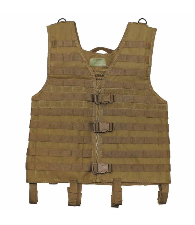 "Tactical vest ""Molle light"", modular, coyote tan"
