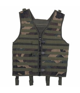 "Tactical vest ""Molle light"", modular, woodland camouflage"