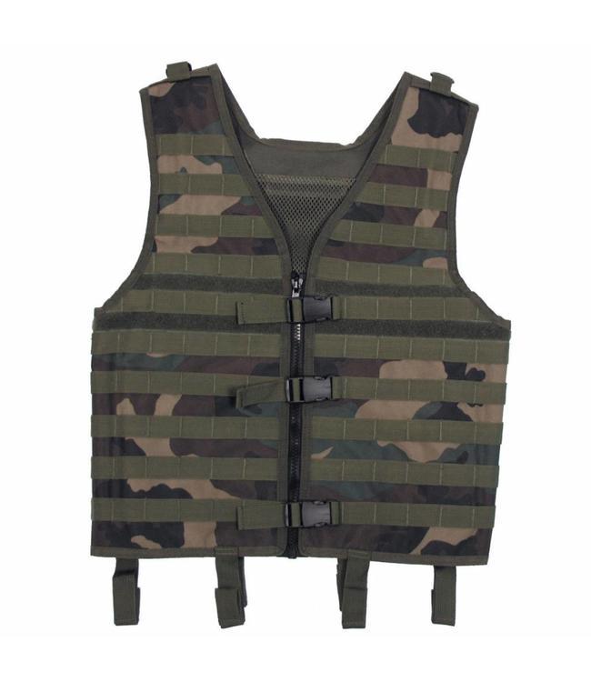 "Tactical vest ""Molle light"", modular, woodland camouflage"