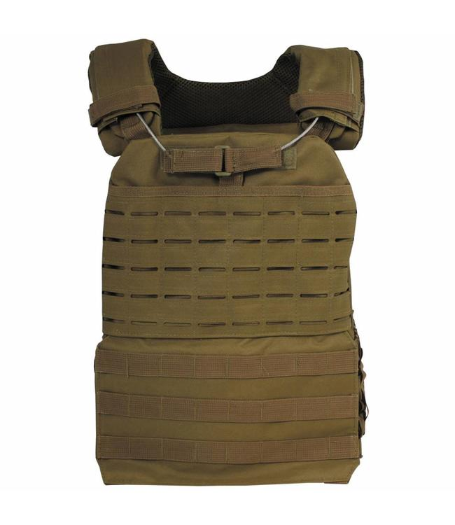 "Tactical Vest, ""Laser Molle"", coyote tan"