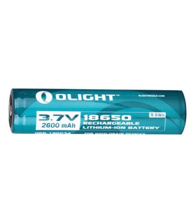 Olight 18650 2600mAh accu op blister