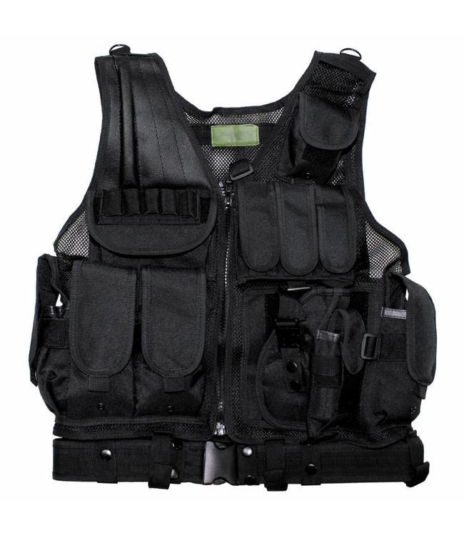 "Tactical vest, ""USMC"", with riem, holster, var. pouches, Zwart"