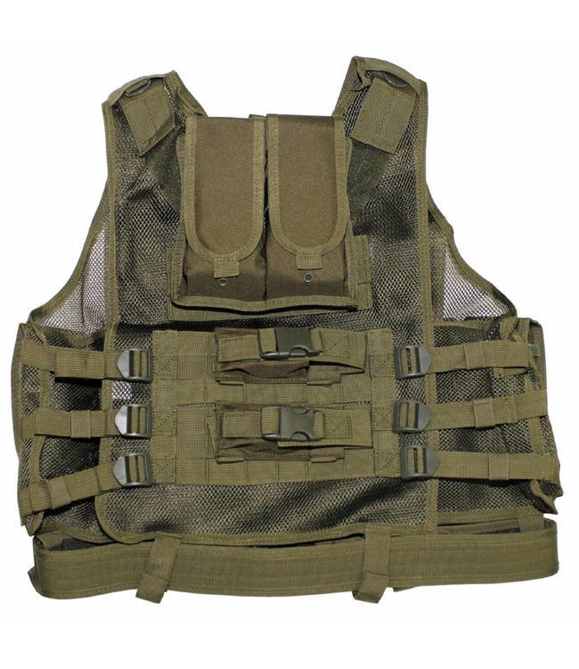 "Tactical vest, ""USMC"", met riem, holster, div. pouches, OD Groen"