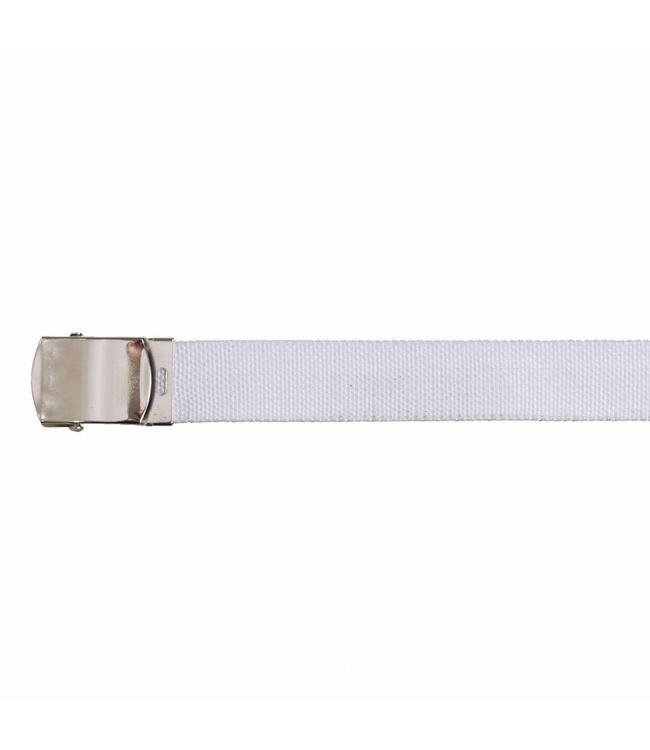 Tropenkoppel riem Zilver schuifgesp Buckle, 30 mm, Wit