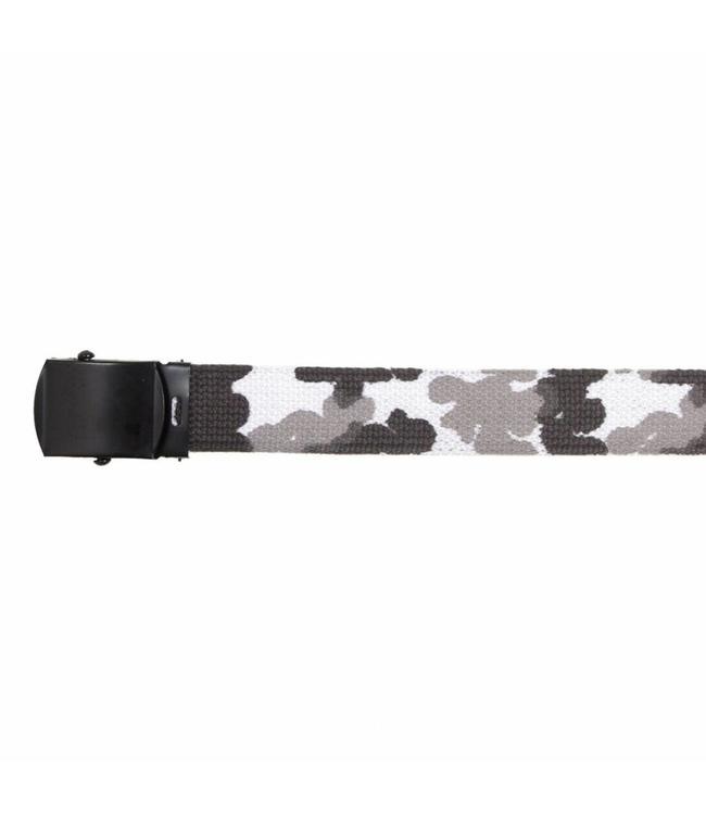 Tropenkoppel riem zwarte schuifgesp Buckle, 30 mm, Urban camo