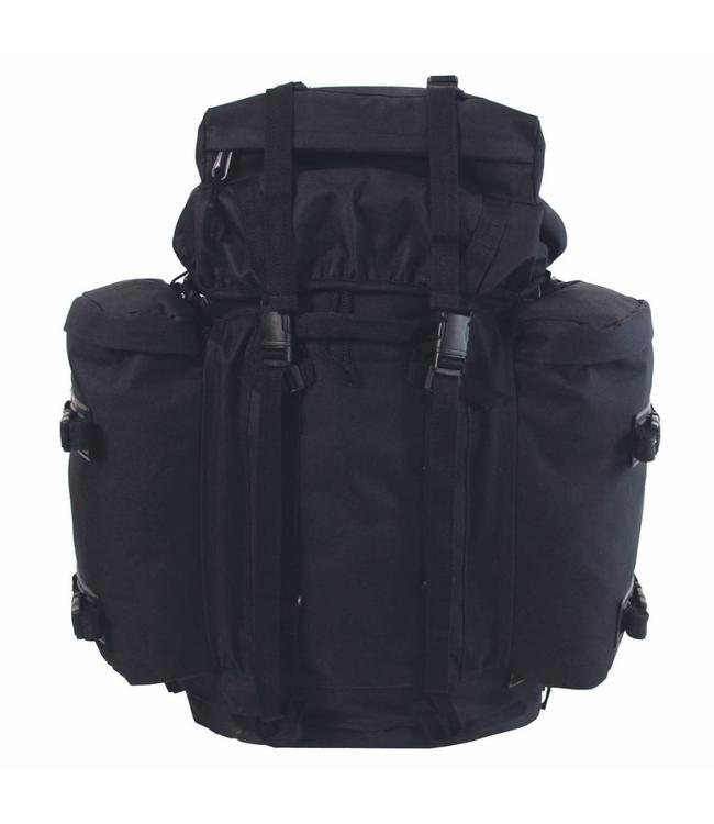 """BW Rugzak """"Mountain"""", Zwart, met 2 side bags"""